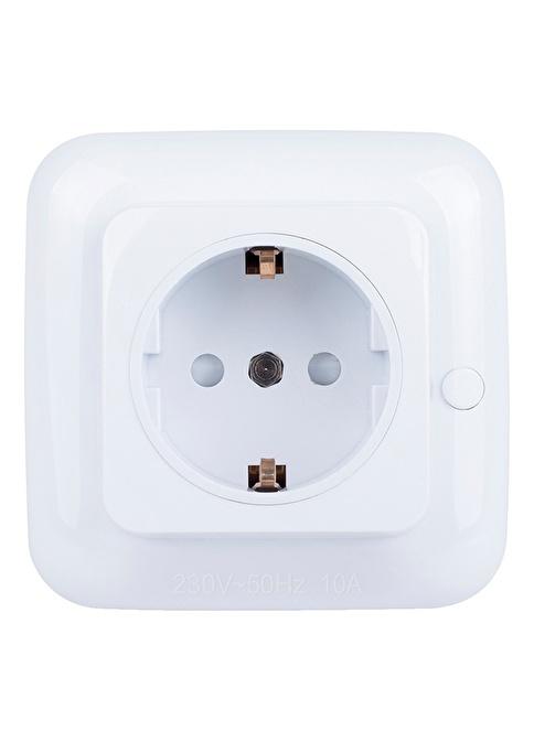 Smartwares Akıllı Ev İç Mekan Yerleşik Priz Açma/Kapama 2300W'a Kadar Beyaz- Sinyal Alıcı Renkli